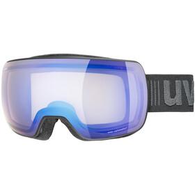 UVEX Compact V Beskyttelsesbriller, black mat/vario blue mirror